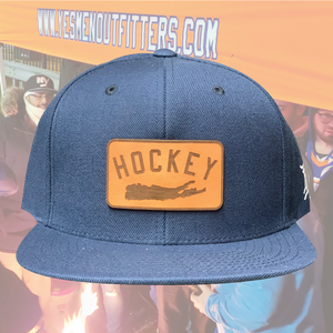 Hockey Island Patch Snapback-yesmenoutfitters.com