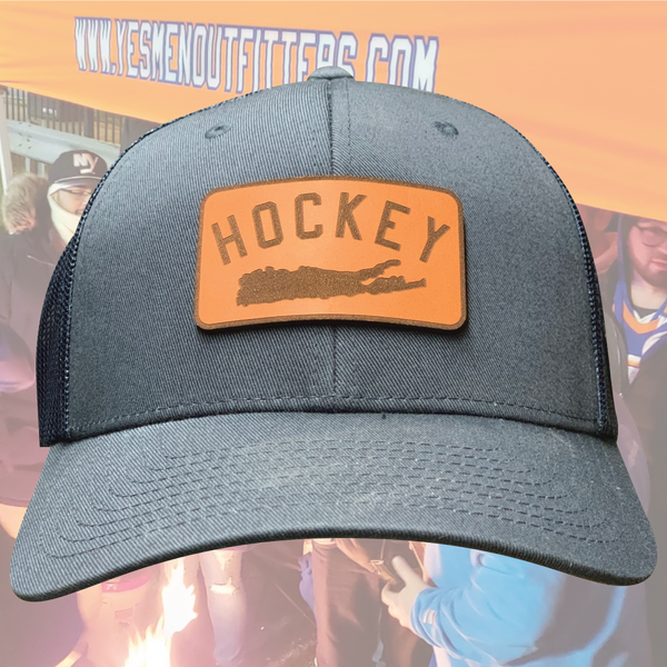 Hockey Island Patch Mesh Snapback-yesmenoutfitters.com