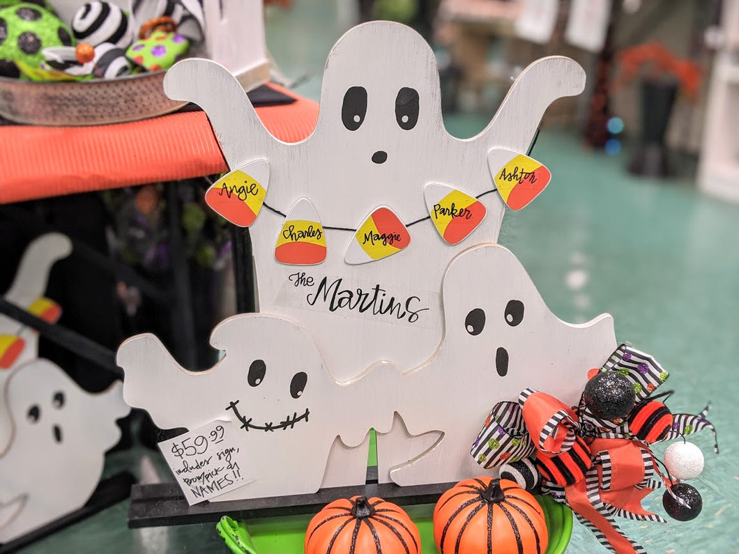 Candy Corn Ghost Display (Comes with PERSONALIZATION!)