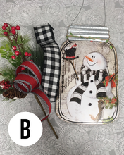 Load image into Gallery viewer, Mason Jar Snowman Hanger