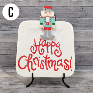 Happy Everything Plate & Attachment (4 Options to choose from!)