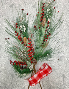 Christmas Mantle or Table Arrangement Kit