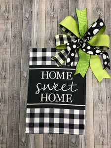 Home Sweet Home Flag & Bow