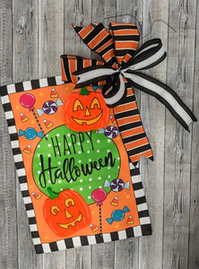 Halloween Flag with FREE bow