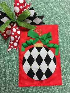 Harlequin Ornament Flag and Bow