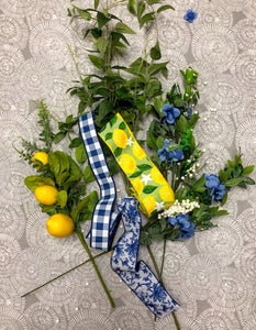Lemon and Hydrangrea Wreath Kit