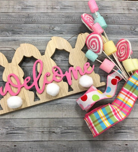 Welcome Bunny Wreath Add-On Kit