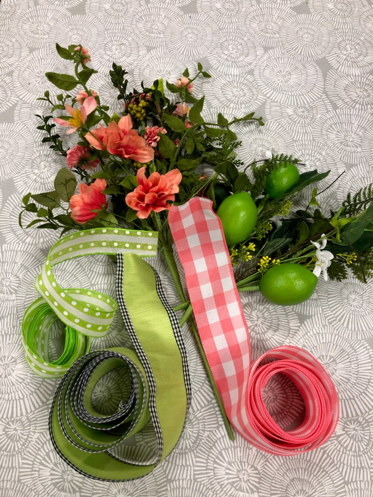 Coral & Limes Wreath Kit