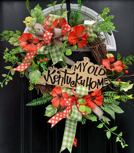 My Old Kentucky Home Grapevine Wreath