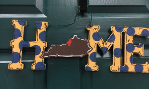 Unfinished Wood Cutout Set- KENTUCKY