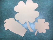 Load image into Gallery viewer, Unfinished Wood Cutout Set- ST. PATRICK'S DAY