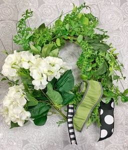 Hydrangea Greenery Grapevine Wreath Kit