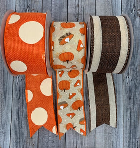 Pumpkin Pie Fall Ribbon Set