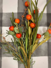 Load image into Gallery viewer, Set of 2 Orange Fall Berry Bush