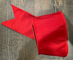 "4"" Red Dupioni Ribbon"