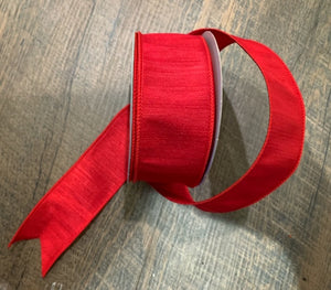 "1.5"" Red Dupioni Ribbon"