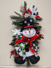 Load image into Gallery viewer, Festive Snowman Swag Kit