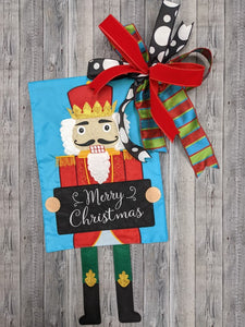 Nutcracker Garden Flag & Bow