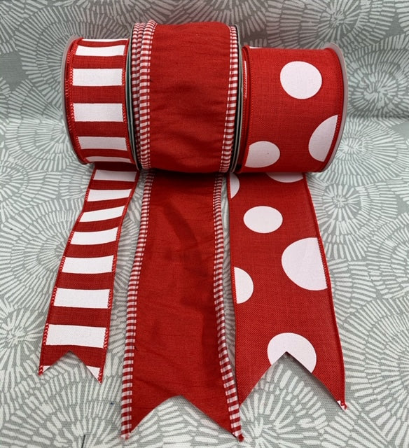 All Red Ribbon Set