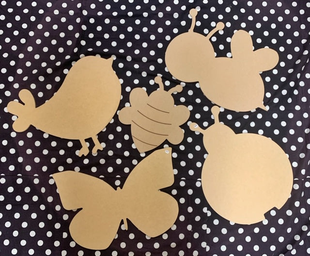 Unfinished Wood Cutout Set- CRITTERS