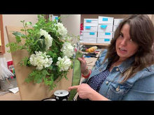 Load and play video in Gallery viewer, Hydrangea Greenery Grapevine Wreath Kit