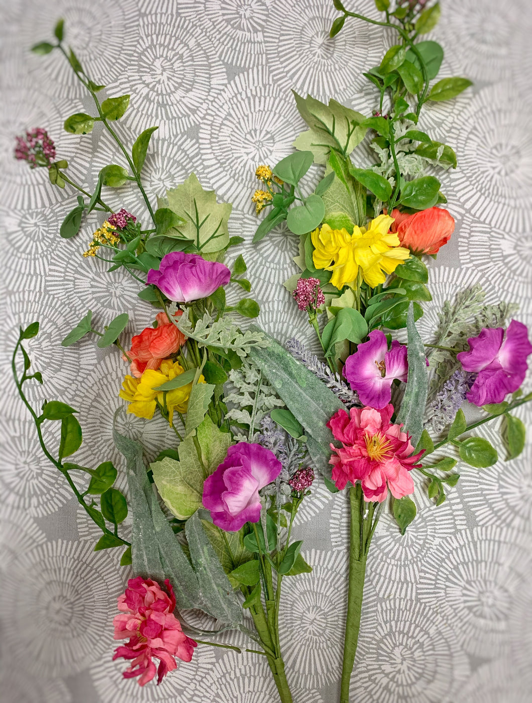 Set of 2 Mixed Wildflower Stems