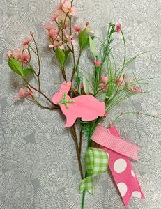 Pink Bunny Dogwood Swag Kit