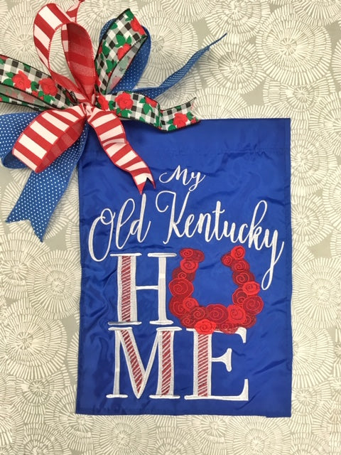 My Old Kentucky Home Flag and Bow