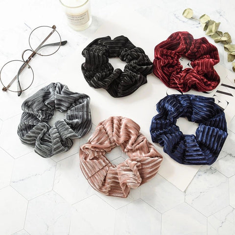 Sammie Rippled Velvet Scrunchie (5 colors)