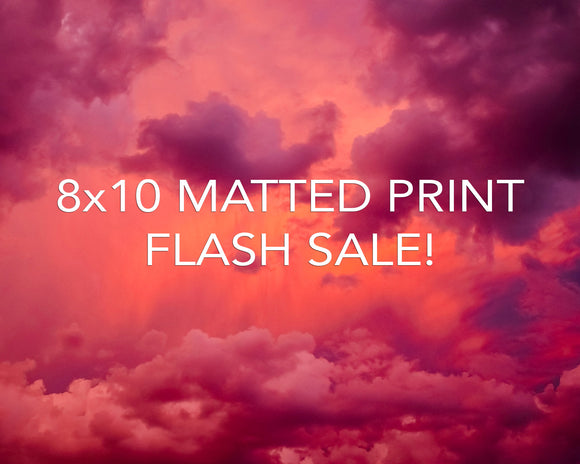 8x10 Matted Print Flash Sale