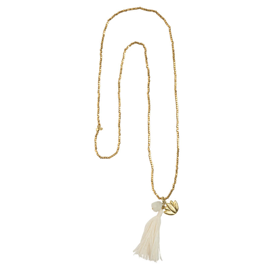 Bloom Rainbow Moonstone Lotus Gold Ketting