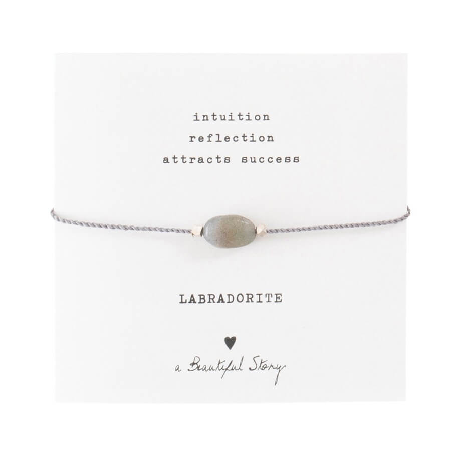 A Beautiful Story - Gemstone Card Labradorite Silver Bracelet - INGAR