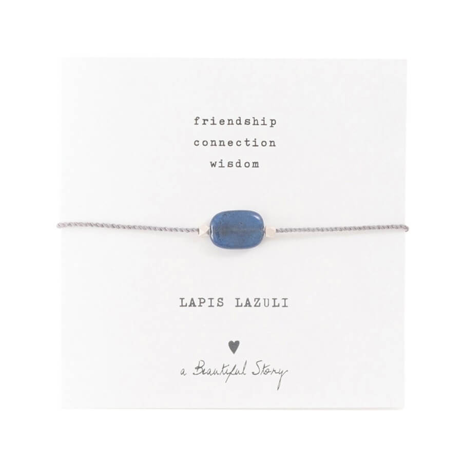 A Beautiful Story - Gemstone Card Lapis Lazuli Silver Bracelet - INGAR