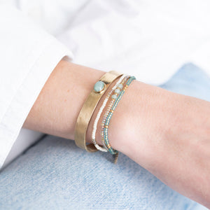 A Beautiful Story - Liberty Aventurine Gold Bracelet - INGAR
