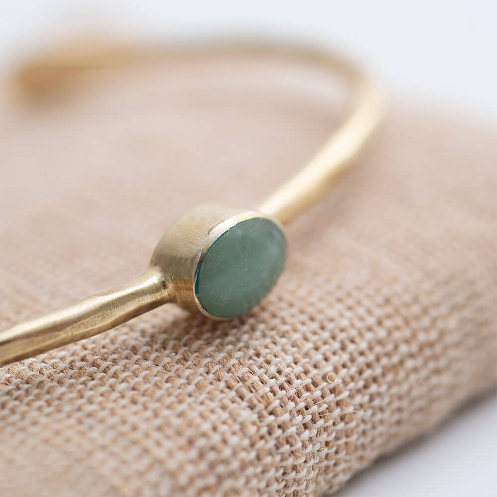 Moonlight Aventurine Gold Armband