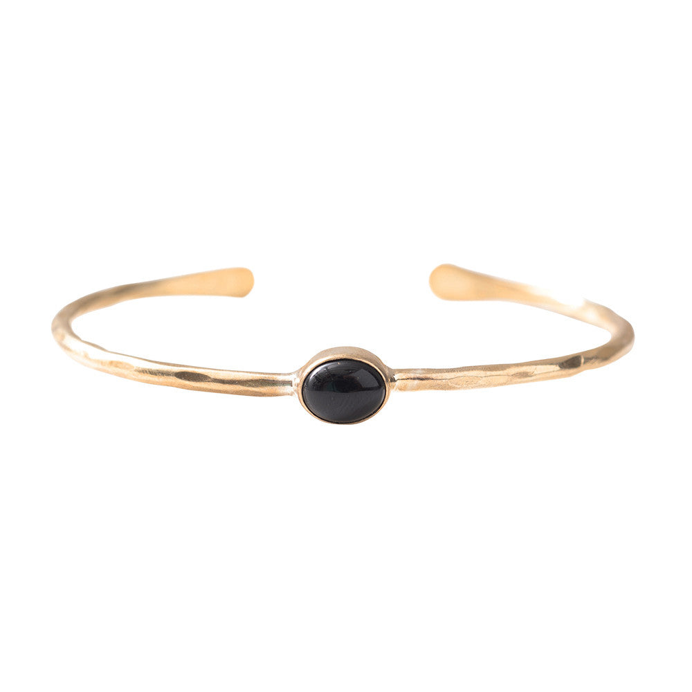 A Beautiful Story - Moonlight Black Onyx Gold Armband - INGAR