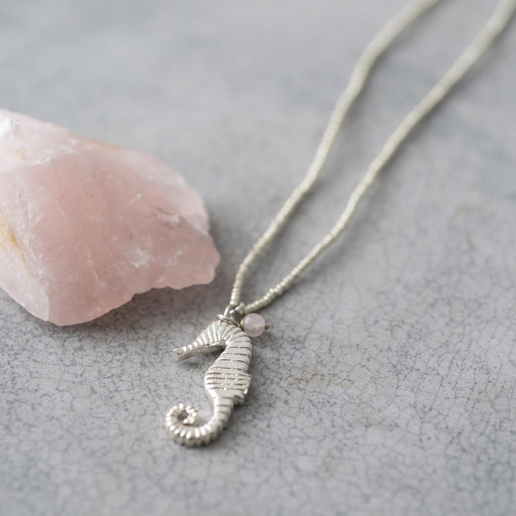 A Beautiful Story - Paradise Rose Quartz Silver Ketting - INGAR
