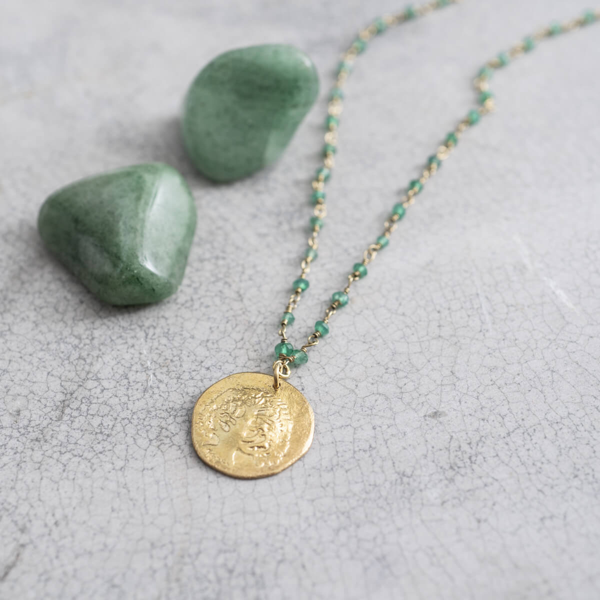A Beautiful Story - Rosary Aventurine Tree Gold Ketting - INGAR