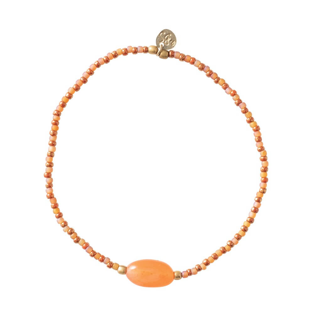 A Beautiful Story - Summer Carnelian Gold Bracelet - INGAR