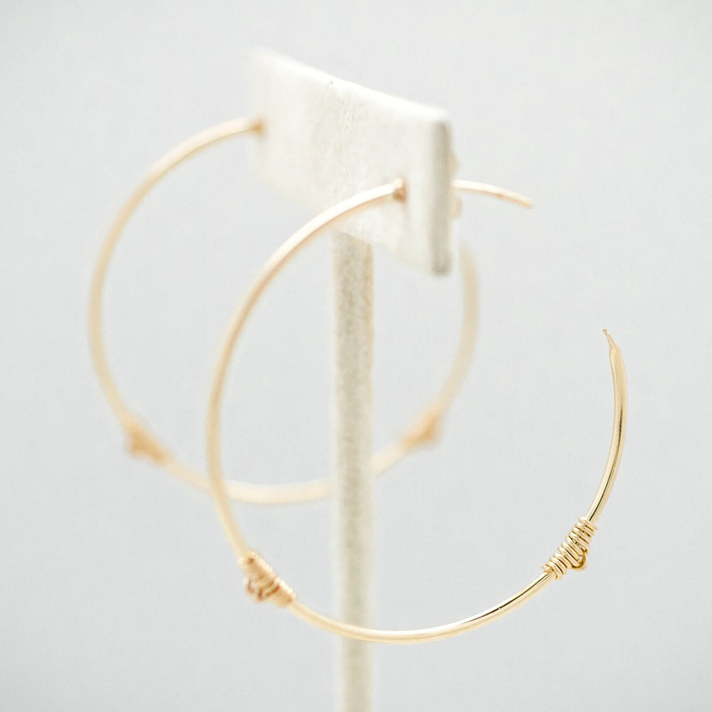 Anna Janelle - The Knot Hoop Earrings - INGAR