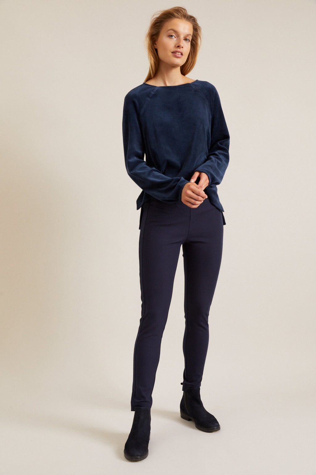 LANIUS - Compact Cotton Stretch Pants - INGAR