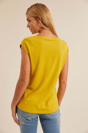 LANIUS - Hemp Cotton Jersey Top - INGAR