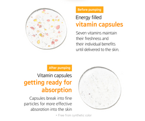 Vitamin Capsules before & after of Mamonde Vital Vitamin Essence | K-Beauty Blossom USA