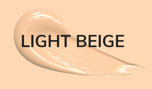 Light beige color of perfect cover foundation
