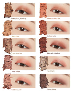 shades of Etude House play color eyes caffeine holic | K-Beauty Blossom USA