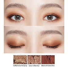 Load image into Gallery viewer, example of how to apply Etude House play color eyes caffeine holic | K-Beauty Blossom USA
