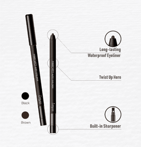 details of waterproof eyeliner
