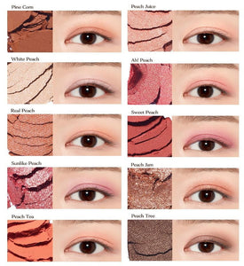 colors of ETUDE HOUSE Play Color Eyes Peach Farm K-Beauty Blossom USA