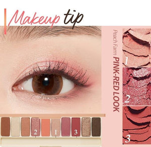 makeup tip of ETUDE HOUSE Play Color Eyes Peach Farm K-Beauty Blossom USA