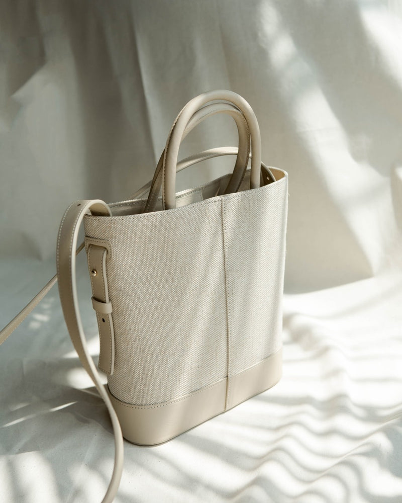 Beige Structured Bag
